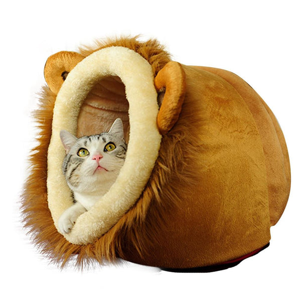 Cozy Lion Pet Bed - Apparel for Pets