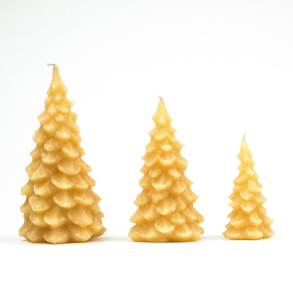 Christmas tree candles -- small, medium, large.