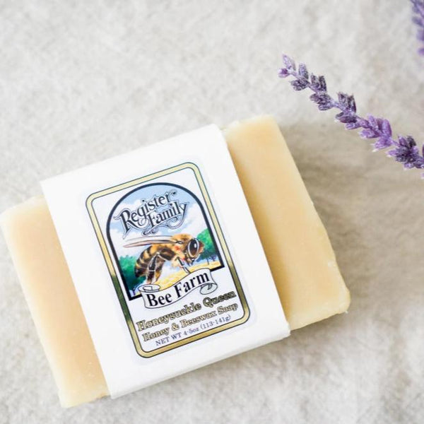 honeysuckle queen honey & beeswax soap