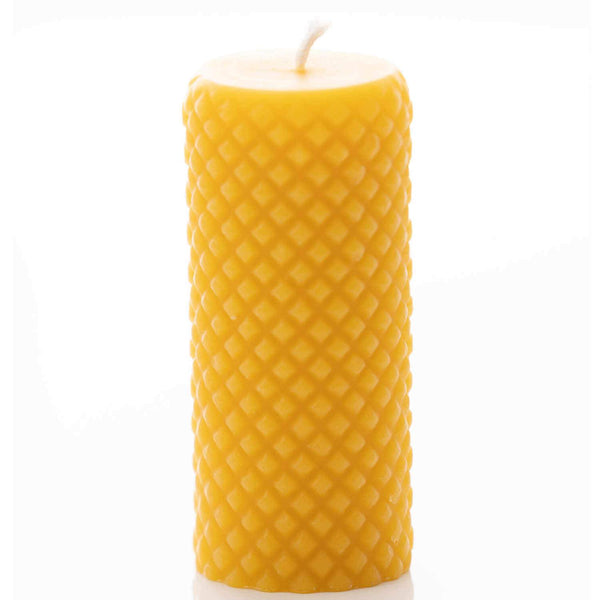 Diamond Pillar Beeswax Candle
