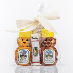 Gift Bag - Honey Bears: Premium Wildflower and Tupelo Honey Bear; plus two Bee Balms.