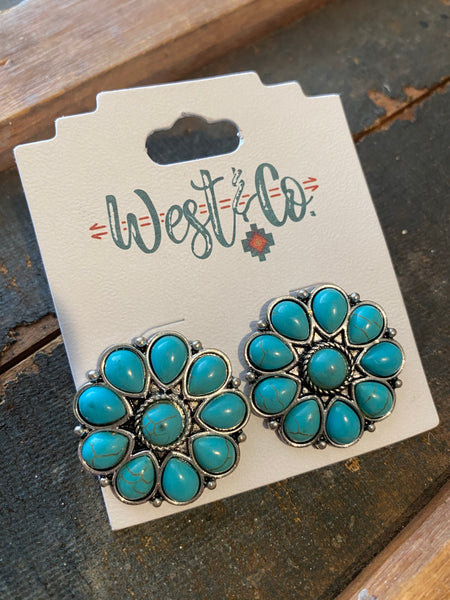 Tear Drop Flower Studs