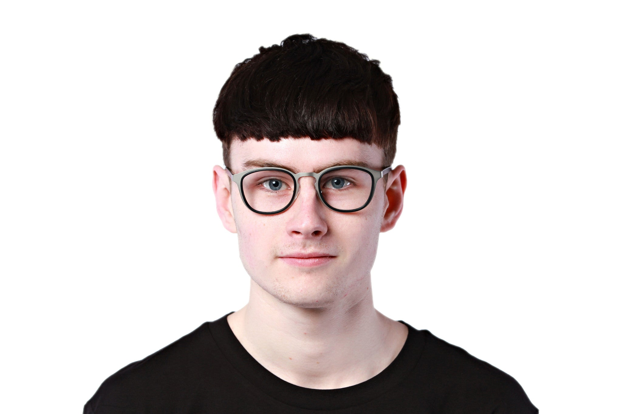 Comely | Matte Silver - Josh Fano Prescription Glasses Uk