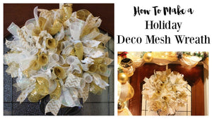 Holiday Burlap Wreath