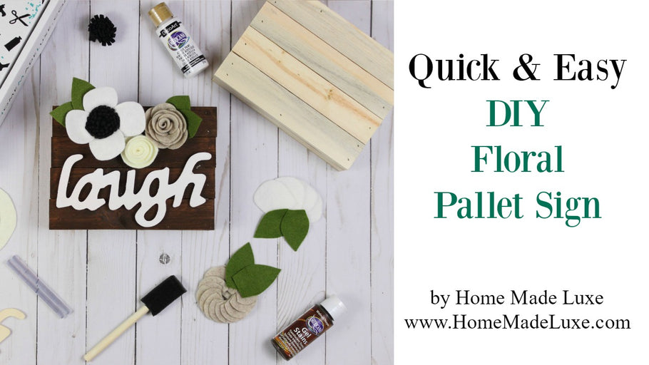 DIY Floral Pallet Sign Tutorial