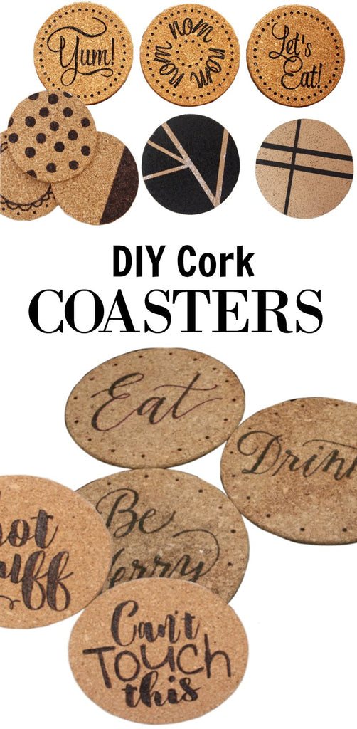 Diy Cork Coasters Home Made Luxe
