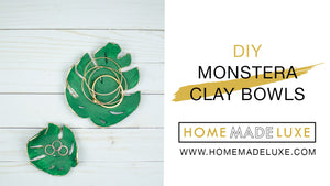 DIY Monstera Leaf Clay Bowls
