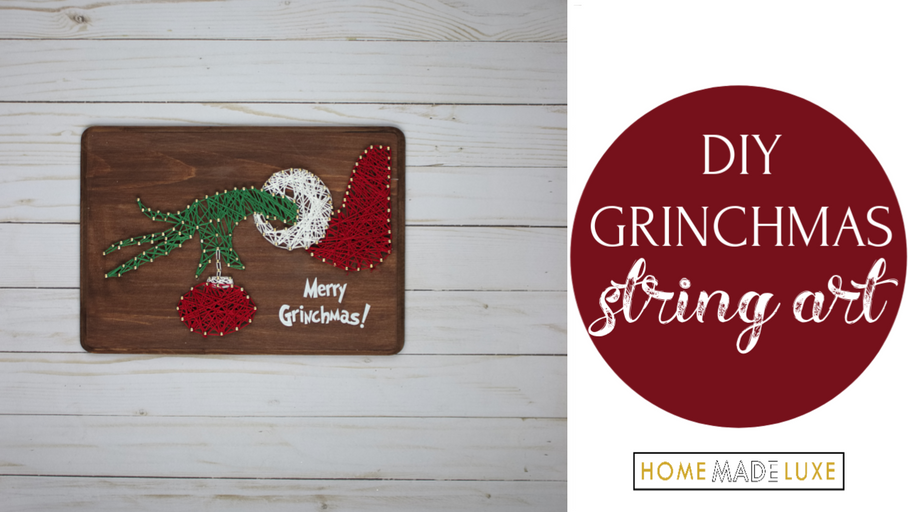 DIY Grinch String Art Decor