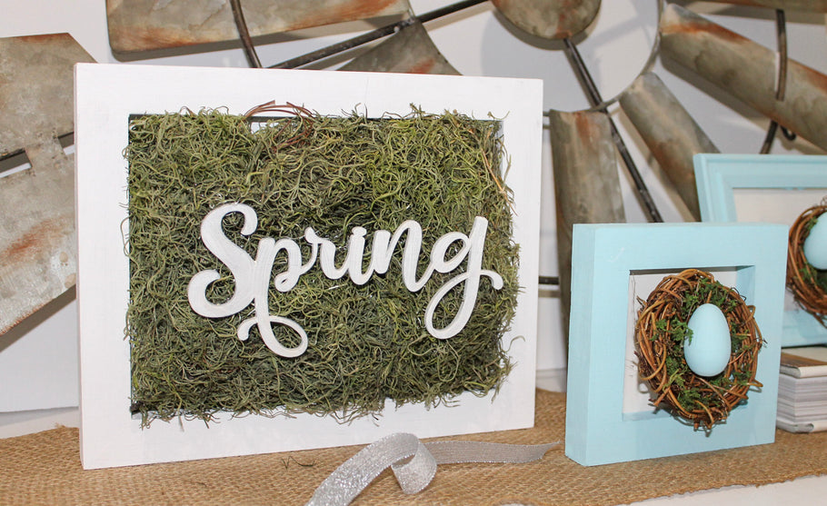DIY Spring Decor Frames