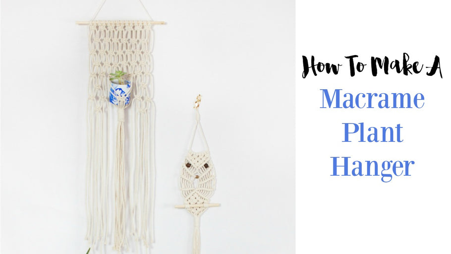 DIY Macrame Hanging Planter Tutorial