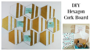 DIY Hexagon Cork Board