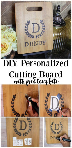 Monogram Cutting Board Tutorial