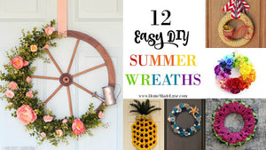 12 Easy DIY Summer Wreathes Round Up!
