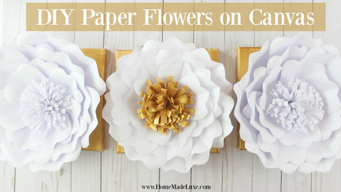 Diy paper flower tutorial home made luxe you need to create this diy home decor projects like this one plus written and video instructions you can grab this diy paper flower project kit here mightylinksfo