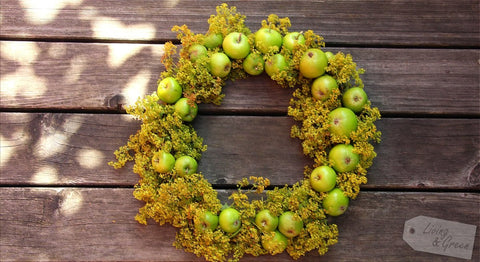 granny smith apples summer wreath