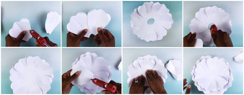 Diy Paper Flower Tutorial Home Made Luxe