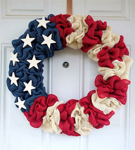 PATRIOTIC FLAG WREATH