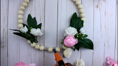 diy wood bead wreath