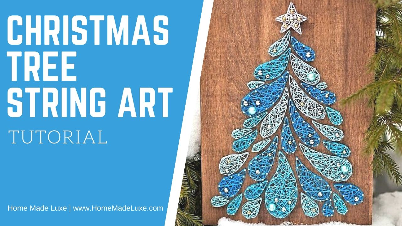 DIY Christmas tree string art