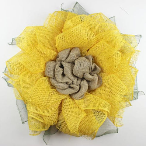 DIY HOME MADE LUXE SUNFLOWER WREATH