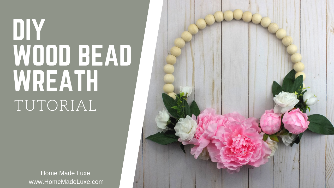 diy wood bead wreath tutorial