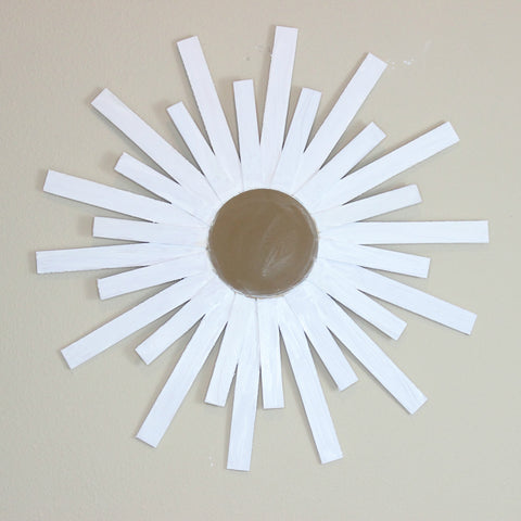 DIY starburst mirror art project