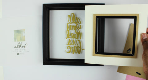 framing a quote for DIY valentines craft