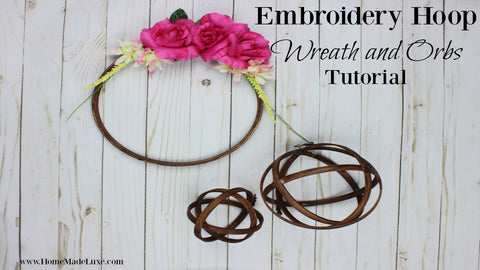 embroidery hoop wreath embroidery hoop orbs