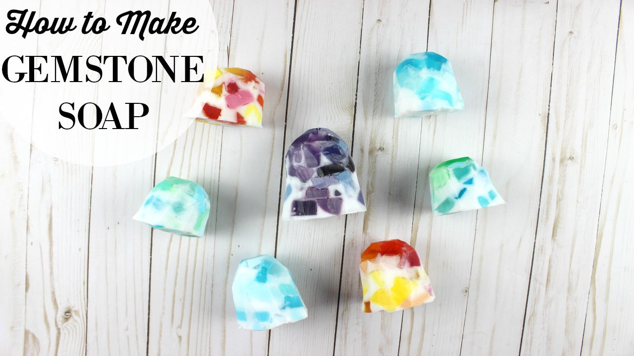 how to make gemstone soap kit
