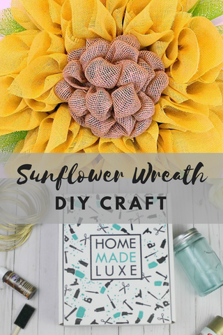 summer sunflower wreath craft