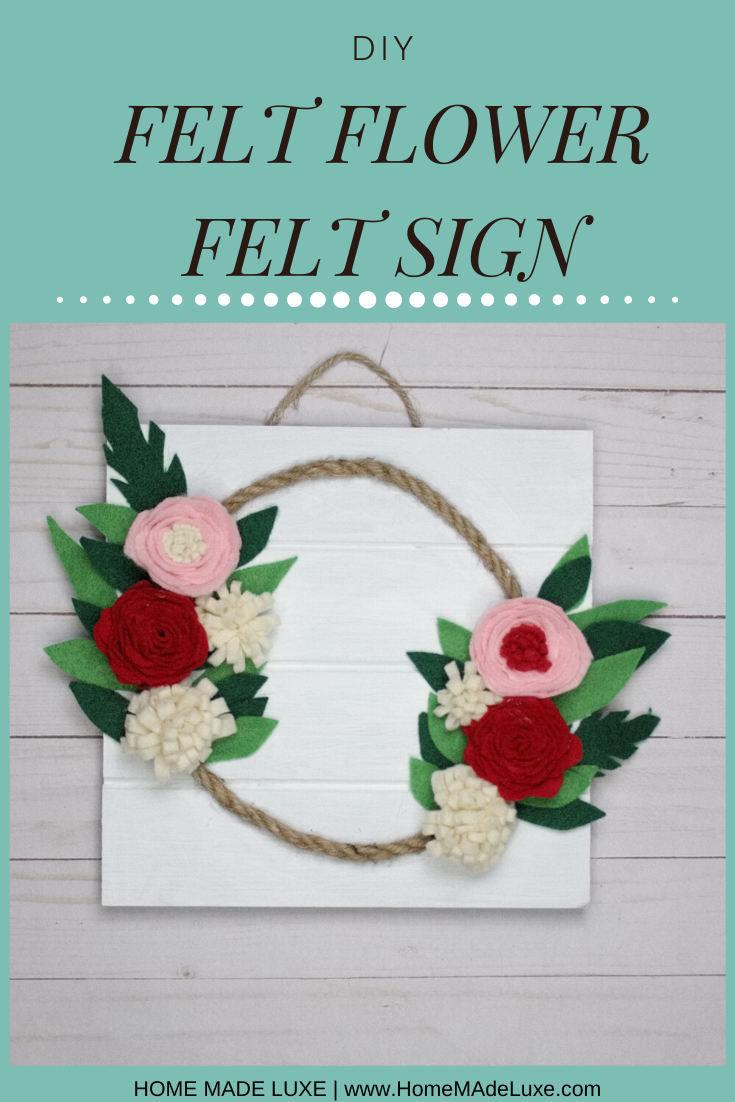 diy felt flower template tutorial