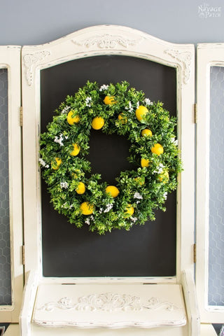 sweet lemon summer wreath