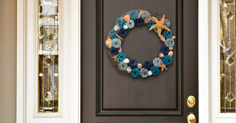 ocean summer wreath