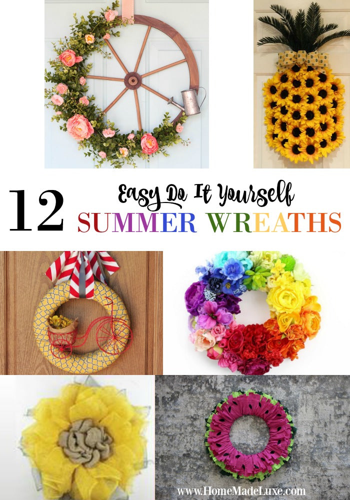 diy summer wreaths