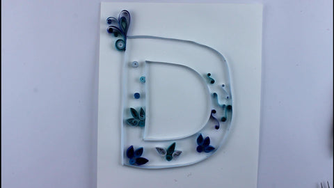 paper quilling letter