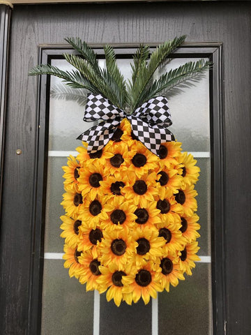 sunflower pineapple wreath