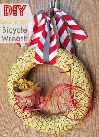bicycle summer wreath
