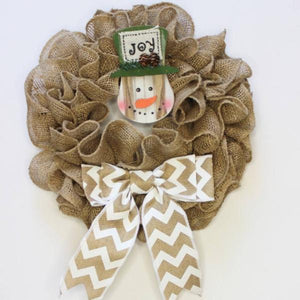This Month's Project: Burlap Wreath Kit