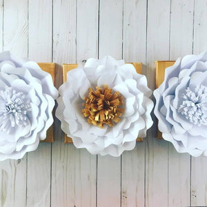 Paper Flowers on Canvas Project Kit