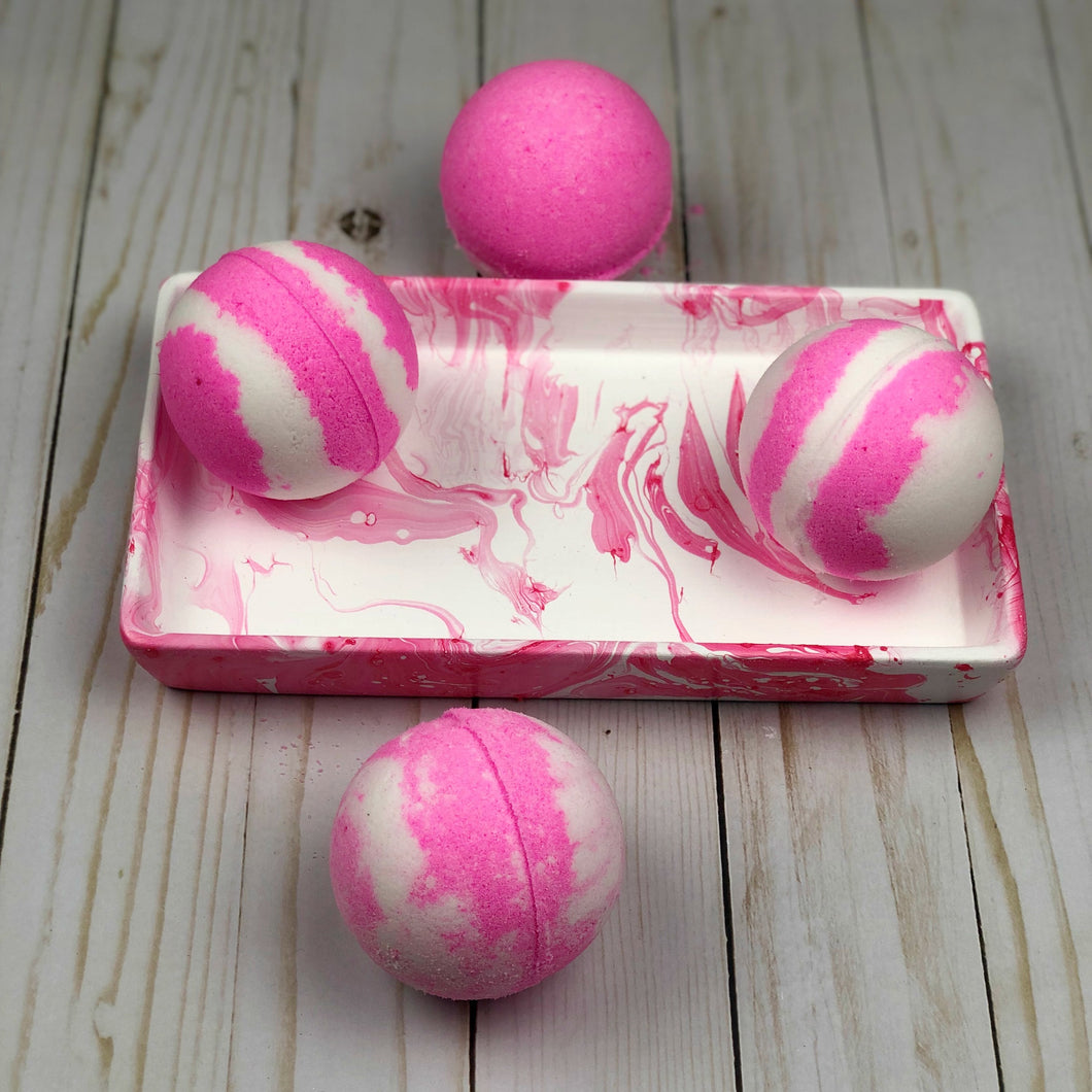 Bath Bomb & Marbled Tray Kit