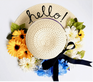 Spring Sun Hat Wreath
