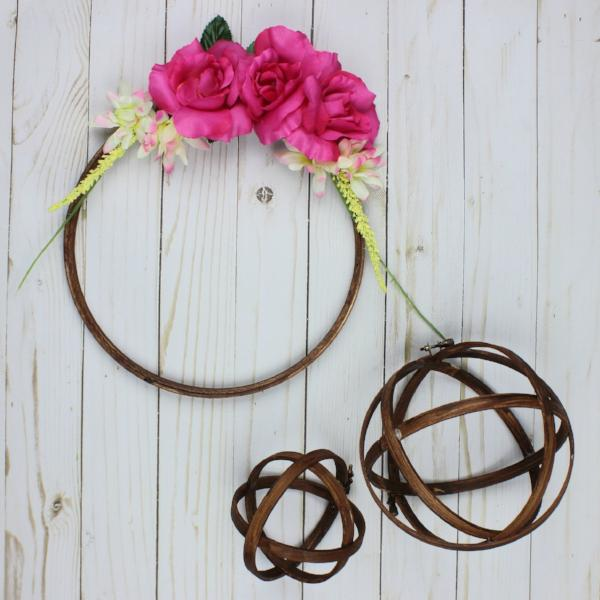 DIY Embroidery Hoop Wreath and Orbs Kit