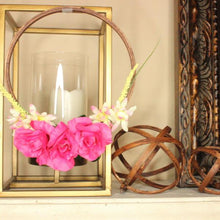 DIY Embroidery Hoop with Pink Flowers