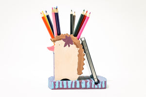 Kid's Hedgehog Cellphone & Pen Holder Craft Kit (one time kit not subscription)
