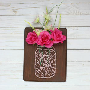 DIY Mason Jar String Art Wall Hanging Craft Box