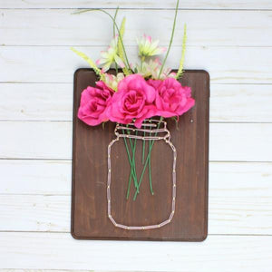 DIY Mason Jar Wall Art from Craft Subsctiption Box