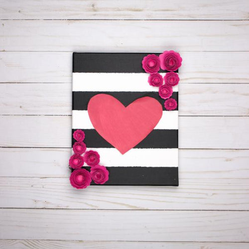 Chalkboard Heart Canvas