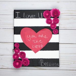 This Month's Project: Chalkboard Heart Canvas