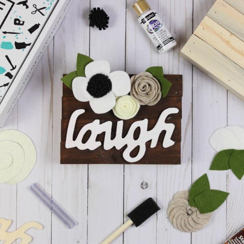 Home Made Luxe Laugh Canvas Craft Kit