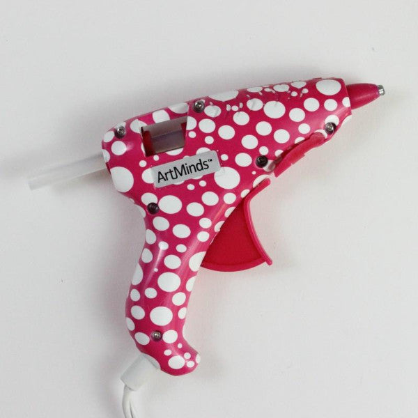 red polka dot mini glue gun for DIY projects